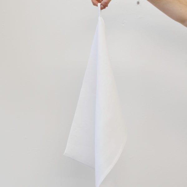Ręcznik kuchenny lniany Biały