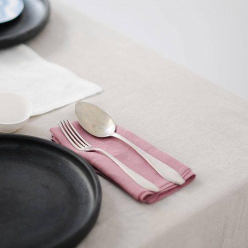 Kuchnia i jadalnia z lnem
